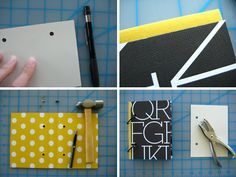 I love the yellow polkas with the black and white letter print. Definitely want to try this.