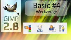GIMP 2.8 - Tutorial - Basics #4 - Farben - Pfade - Magnetische Schere - ...
