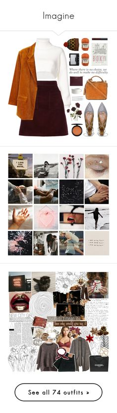 """Imagine"" by blulee ❤ liked on Polyvore featuring Alexandre Vauthier, A.P.C., Aquazzura, Mark Cross, MANGO, prAna, Aspinal of London, H&M, MAC Cosmetics and Marimekko"