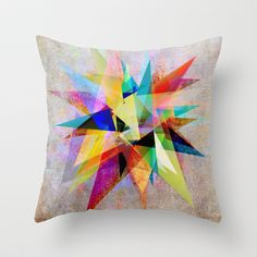 Colorful 2 Throw Pillow by Mareike Böhmer Graphics - $20.00
