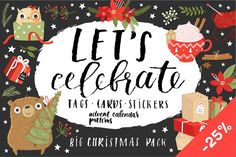 Let's celebrate!❄ by Artnis on @creativemarket