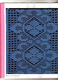 Crochet Knitting Handicraft: Working filet crochet