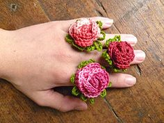 The Royal Sisters: Grandma Rosie Rings...Tutorial...thanks so for rose pattern freebie xox