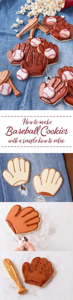 How to Make Fun Baseball Cookies | The Bearfoot Baker