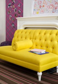 Superbe Tufted Sunshine. Yellow CouchYellow ...