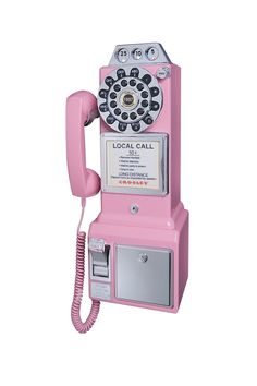 Pink 1950s Pay Phone