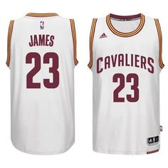 fffa167c696 2014-2015 Adidas NBA Cleveland Cavaliers 23 Lebron James New Revolution 30 Swingman  White Jersey