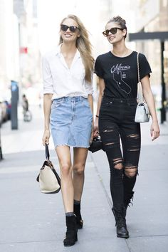 Romee Strijd and Taylor Hill..