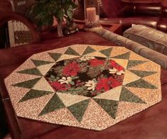 Stag Quilted Table Runner Thistle Candle Mat Celtic Knot Table Quilt Purple Table Topper