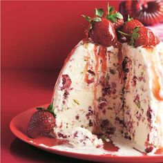 Raspberry & Pistachio Ice-Cream Pudding Recipe | Woolworths