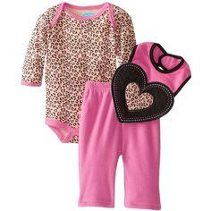 BON BEBE Baby-Girls Newborn Hearts Bodysuit, Bib, and Micro Fleece... ($9.99) ❤ liked on Polyvore featuring baby