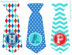 a free printable: the father's day tie banner