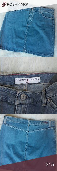 """Tommy Hilfiger Jean Skirt Fly front & 2 front pockets. 16""""waist & 17.5""""long Tommy Hilfiger Skirts Mini"""