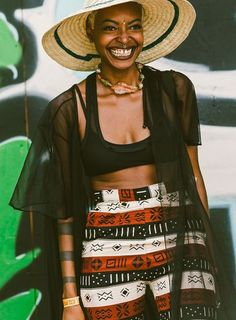 African-inspired patterns & prints // The Most Inspiring Street Style Inspiration From Brooklyn's Afropunk Festival: (http://www.racked.com/2015/8/24/9197107/afropunk-style?utm_content=buffera4698&utm_medium=social&utm_source=pinterest&utm_campaign=racked#4815934)