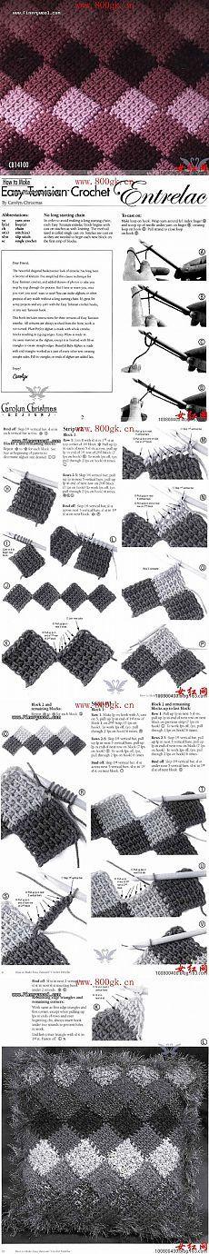 тунисское вязание                                                                                                                                                      Mehr