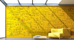 Clear Dry Erase Paint by whiteyboard: Turn ANY color wall into a whiteboard. #Dry_Erase_Paint #whiteyboard