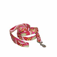 Priscilla 100% Cotton Dog Lead (Pink; 4 ft x 0.5 ins) Incredibly strong and the ultimate combination of function, comfort & style!. Strong swivel snap bolt buckle metal clip, high tensile strength inner webbing, fully wrapped with 100% cotton fashion fabric!. Check out our wonderful array of colors and styles including: Seasonal, Resort Wear, Fun & Games, Pop Culture, Furry Friends, Animal Kingdom... #Elmo's_Closet #Pet_Products