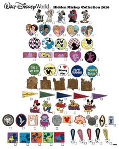 hidden mickey full collections   ... COLLECTIBLES: Hidden Mickey lanyard collections for 2010 announced