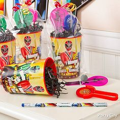 Power Rangers party ideas from Party City offer birthday recipes, activity ideas, and decorating tips. Power Ranger Party, Power Ranger Birthday, 6th Birthday Parties, Birthday Fun, Birthday Celebrations, Birthday Ideas, Power Rangers, Unicorn Party, Party Time