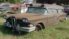 1958 Ford Edsel Ambulance awaiting an expensive restoration.
