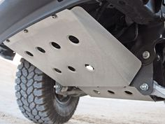 Custom built Skid plates for front, transfer case, fuel tank (if applicable), rear end.