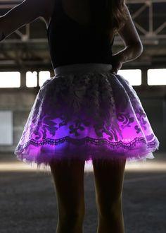 DIY Light up LED skirt... runDisney costume idea?