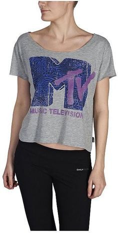 Only Play Sportbluse »PLAY MTV ANIMAL CROPPED S/S TOP«