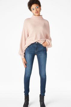 <p>Mid waisted perfection, stretch slim cut jeans. The all-day, every day, (s)hero pair you love to wear. <br />•  slim fit<br />•  mid