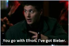 Clearly, it was JARED that got Bieber. #Supernatural #Twitter