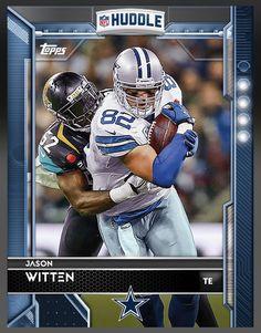 Jason Witten Dallas Cowboys Blue Parallel Card 2016 Topps HUDDLE