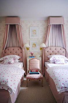 Guest Bedrooms, Girls Bedroom, Guest Room, Bedroom Ideas, Bedroom Decor, Showroom, Veranda Magazine, Gramercy Park, Green Curtains