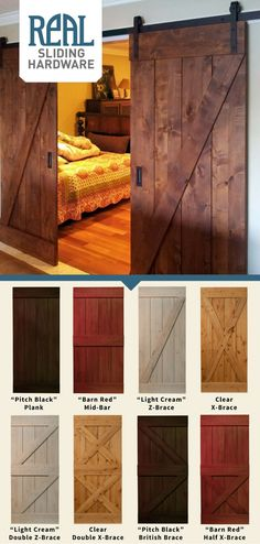 With 6 timeless door designs and 4 different stains to choose from, Real Sliding Hardware's Rustic Alder Barn Door can be made to suit any home, decor, and color palette. From warm rustic to chill ind(Diy Furniture Sliders)