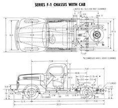 chassis diagram 1948 ford truck  1952 ford truck  ford