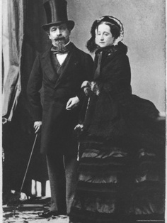 The artwork Emperor Napoleon III and Empress Eugenie, (sepia photograph) (b/w photo) - Andre Adolphe Eugene Disderi we deliver as art print on canvas, poster, plate or finest hand made paper. Reine Victoria, Victoria Reign, Queen Victoria, Francis Of France, Roman Photo, French Royalty, English Royalty, French History, Versailles