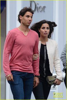 Rafael Nadal  Strolls with Girlfriend Xisca Perello