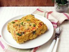 Tortilla de coliflor (microondas u horno) del blog Sano y de Rechupete