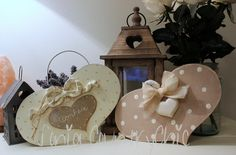 Sonia Countrypainting e Torta di Mele: * CUORI SHABBY STYLE *