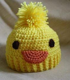 Crochet Duck Hat by delachic on Etsy, $25.00