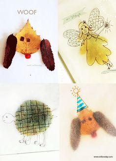 Make Tracing Paper Leaf Art   willowday