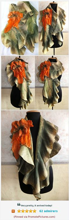 scarves for women green accessory women wool jewelry boho scarf merino wool felt scarf silk brooch felt flower brooch beauty gifts for her https://www.etsy.com/VasyLineFelt/listing/527155312/scarves-for-women-green-accessory-women?ga_order=most_relevant&ga_search_type=all&ga_view_type=gallery&ga_search_query=felted%20scarf&ref=sr_gallery-6-24  (Pinned using https://PromotePictures.com)