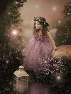 Enchanted Garden Fairy Portraits by Alicia Birch Photography.