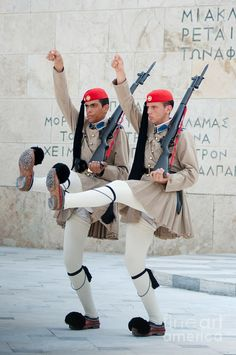 Guards parade at Syntagma square - Athens, Greece
