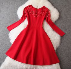 Fashion hollow sequined dress ZX1014CA