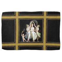 Dancing Women Kitchen Towels #Mythological #Mythology #Venus #Painting #Art #Vintage #Dance #Towel #Home #Kitchen