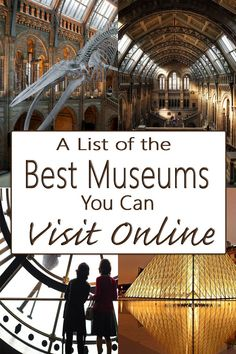 A List of the Best Museums You Can Visit Online Virtual Travel, Virtual Tour, Virtual Museum Tours, Tour Around The World, Around The Worlds, Museum Logo, Louvre Museum, Virtual Field Trips, Free Museums