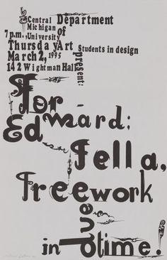 Ed Fella: Free Work in Due Time | LACMA