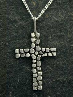 Sterling Silver Cross Pendant on a Sterling Silver by peteconder, $48.00