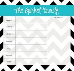Weekly Menu Planner/ Grocery List Planner  by LoveyDoveyCreations, $35.00