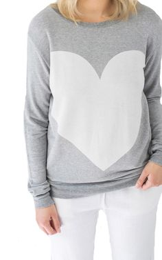 Does My Heart Look Big In This Graphic Pullover - PRIVILEGE