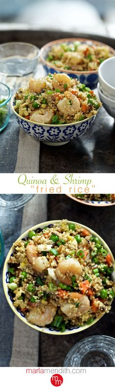 "Quinoa & Shrimp ""Fried Rice"" 